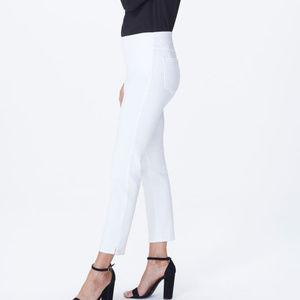 NYDJ ALINA Pull-On White ankle Pants Lift Tuck Sz0